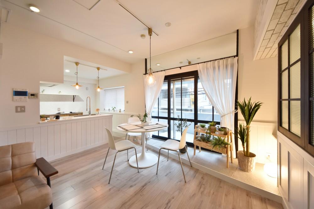 ≪白を基調したオープンカフェ風リノベーション≫ 平和大通りパークマンションN様邸