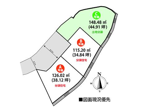 現地の区画図